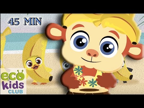 The banana boat song + more from EcoKids Club - Children Nursery Rhyme - Kids Songs
