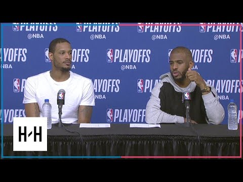 Chris Paul & Trevor Ariza Postgame Interview | Timberwolves vs Rockets - Game 2 | 2018 NBA Playoffs