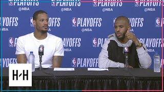 Chris Paul & Trevor Ariza Postgame Interview | Timberwolves vs Rockets - Game 2 | 2018 NBA Playoffs