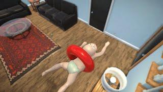 BABY LERNT SCHWIMMEN