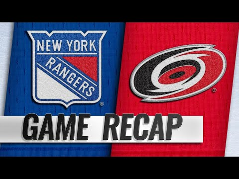 Svechnikov lifts Hurricanes past Rangers