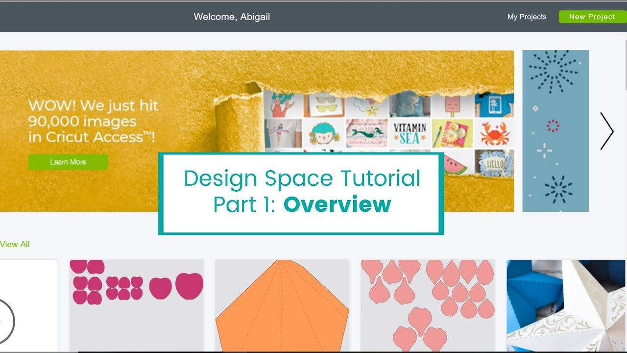 Cricut Design Space Help for Beginners: Part 1 - Tutorial of Design Space