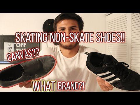 Can you skate NON-SKATE SHOES?!