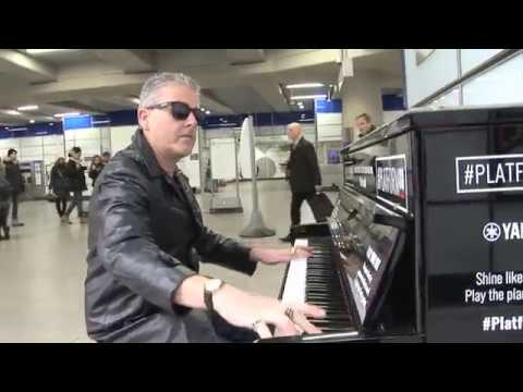 Passenger Plays The Blues Expressively on The Station Piano