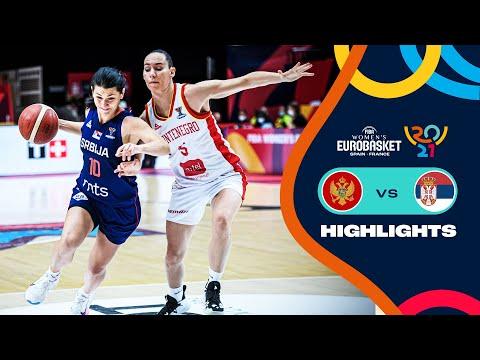 Montenegro - Serbia   Highlights - FIBA Women's EuroBasket 2021