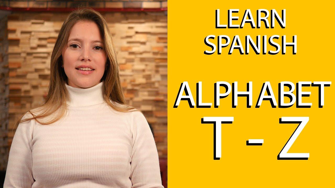 how to speak spanish alphabet