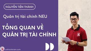 NEU - Tổng quan về QUẢN TRỊ TÀI CHÍNH - Đại học Kinh Tế Quốc Dân