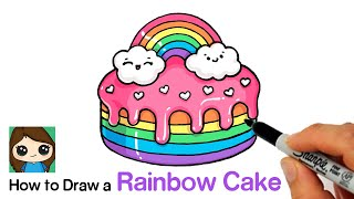 How to Draw a Rainbow Cake | Moriah Elizabeth