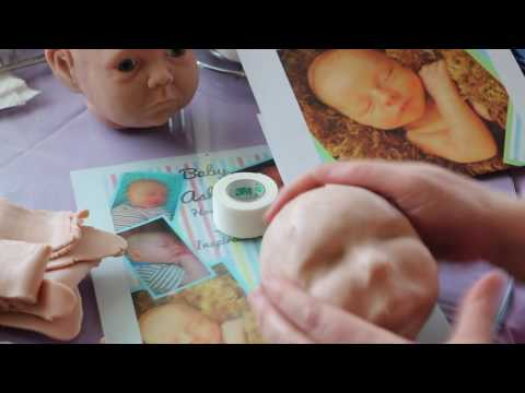 sculpting a doll head -part 5 silicone doll making