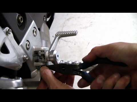 How to Install MFW Adjustable Motorcycle Footpegs