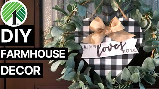 Dollar Tree Farmhouse DIYs | Valentines Day Inspired Sign, Pom Pom Garland + More!