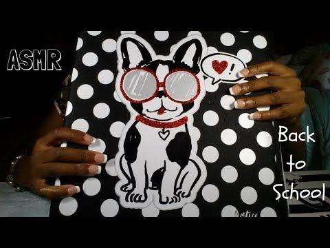 ASMR School Supply Sounds *tapping, scratching, whispering*