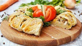 Пирог с курицей и грибами - Рецепты от Со Вкусом