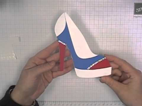 high heel template for cards - stamping t high heel shoe card youtube