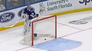 NHL Bloopers of the week is here featuring NHL goalies making huge mistakes, players being clotheslined by their own sticks and a few lucky fans having the ...