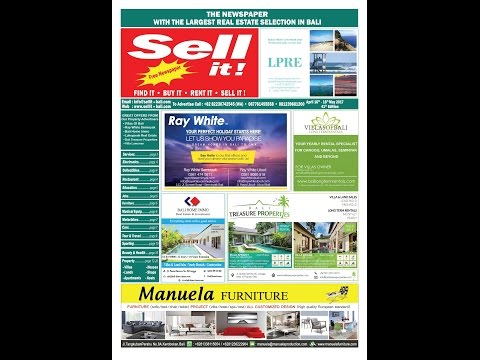 Sell it! Newspaper Bali. Our 41st edition.  April 16th 2017