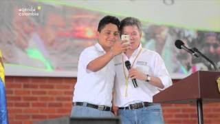 Presidente Santos visitó Mocoa y Puerto Caicedo en Putumayo