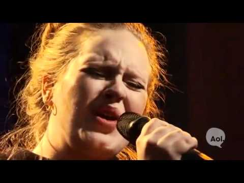 Adele - Chasing Pavements - Live AOL Sessions