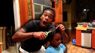 I CUT MY DAUGHTER'S HAIR PRANK