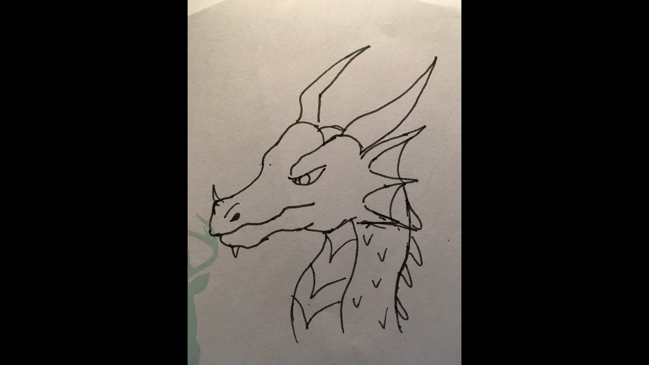 Simple Dragon Drawing: How To Draw A Simple DRAGON