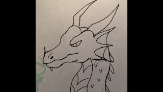 simple dragon drawing draw drawings paintingvalley