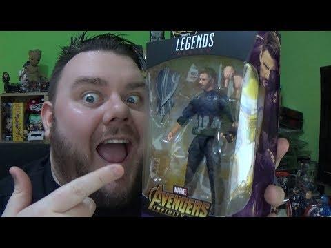 Marvel Legends Captain America Avengers Infinity War (Wakanda) Thanos BAF Wave Action Figure Review
