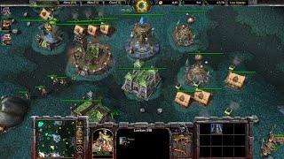 Warcraft 3 Reforged Beta Gameplay, Human 2v2, 1080p60, Max Settings
