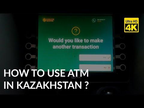 Withdraw money from Kazakh ATM Machine / Bankomat / атм банкомат