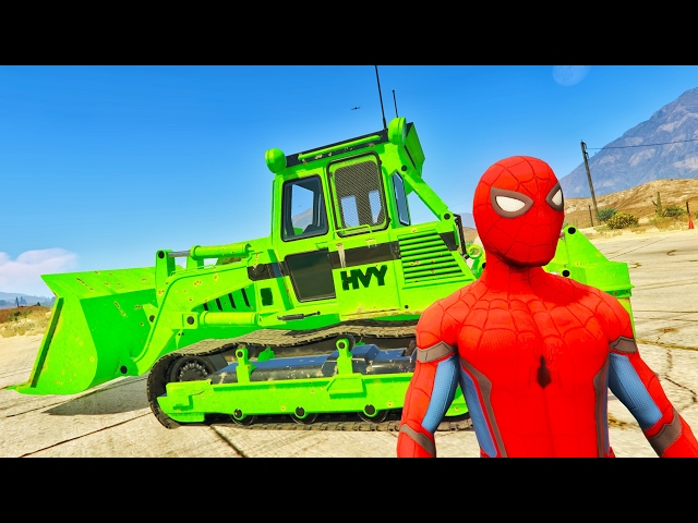 LEARN COLORS TRACTORS Spiderman & Cars Cartoon for Kids & LEARN Numbers