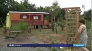camping à la ferme en roulotte