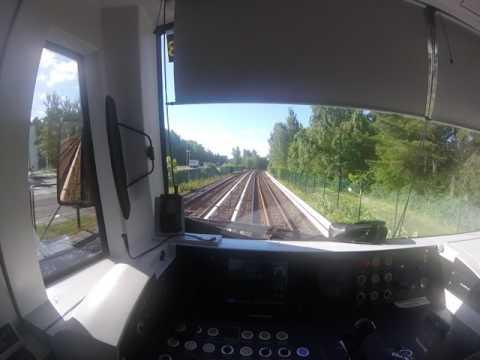 Helsinki metro. Mellunmäki-Ruoholahti. Kuljettajan näkymä. Drivers view. Part 1/3.