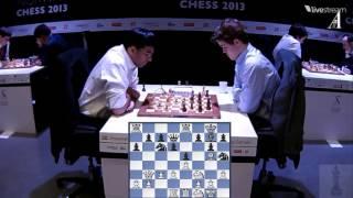 ♚ vishy anand vs magnus carlsen chess blitz ☆ norway chess 2013