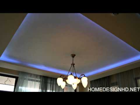 Modern Ceilings With Hidden Lighting Features