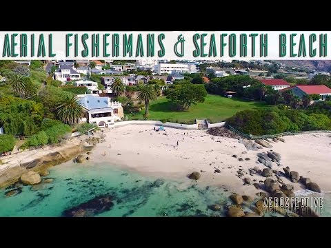 Seaforth and Fisherman's Beach, Simon's Town. Aerial View