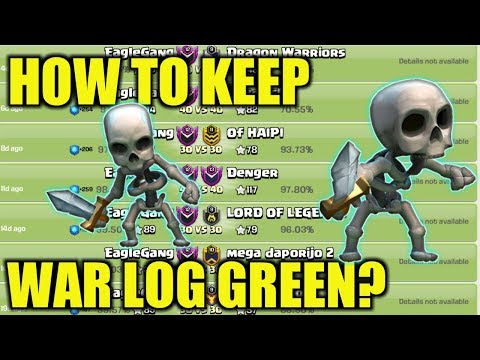 HOW TO KEEP WAR LOG GREEN EASY 4 STEPS