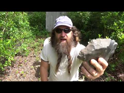 speed making an arrowhead with primitive tools