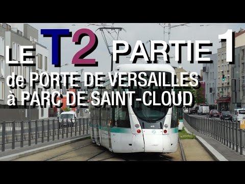 TRAMWAY DE PARIS - EN CABINE DU T2, DE Pte. DE VERSAILLES À PARC DE ST-CLOUD (PARTIE 1)