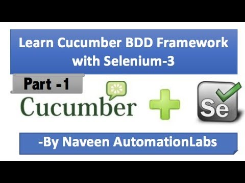 Cucumber - jvm (BDD Framework) with Selenium WebDriver - Part 1