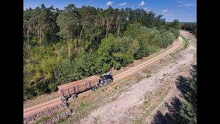 Leśny włóczykij Załadunek Drewna na nakładke #Vlog4 Transport Leśny Ujęcie z drona Holztransport