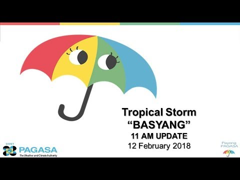"Press Conference: Tropical Storm  ""#BasyangPH"" (SANBA) Monday 11AM, February 12, 2018"