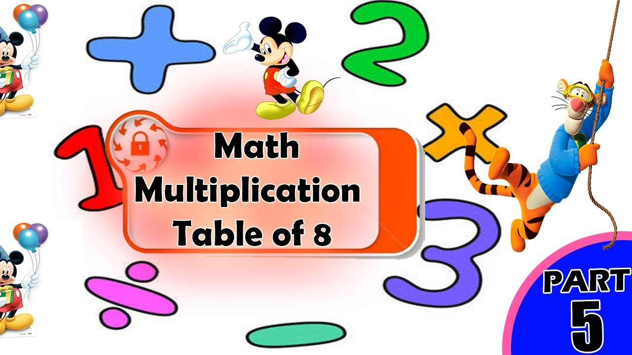 Math Table of 8 for kids | 8 Table Multiplication | Multiplication ...
