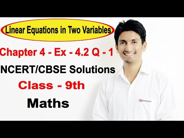 chapter 4 Exercise 4.2 q 1 - Linear Equations in Two Variables class 9 maths ncert solutions