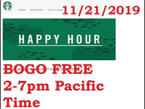 Starbucks HAPPY HOUR Buy One, Get One Free On ANY Handcrafted Drink