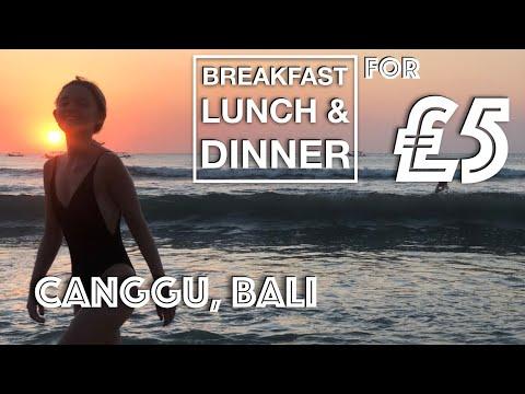 CANGGU, BALI - £5 Breakfast Lunch & Dinner Food Challenge
