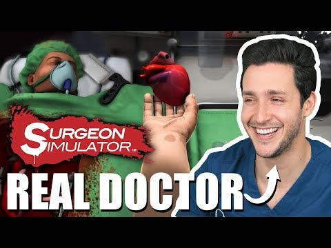 Real Doctor Plays SURGEON SIMULATOR! | Wednesday Checkup | Doctor Mike