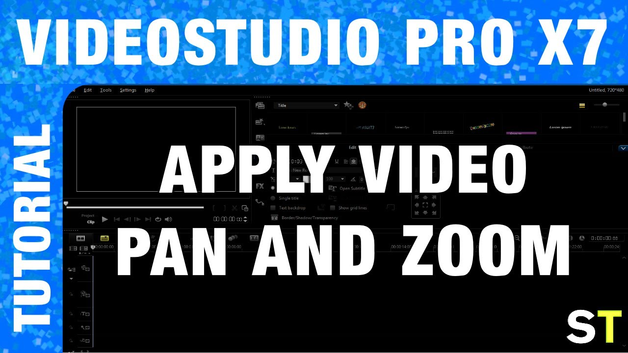 how to apply pan zoom to videos in corel videostudio pro x7 tutorial youtube. Black Bedroom Furniture Sets. Home Design Ideas