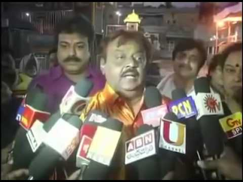 vijayakanth press meet comedy works