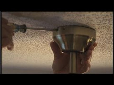 Electrical Home Repairs : How to Repair Loosened Ceiling Fan Light Fixtures