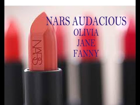 Nars Audacious Fanny Lipstick Swatches