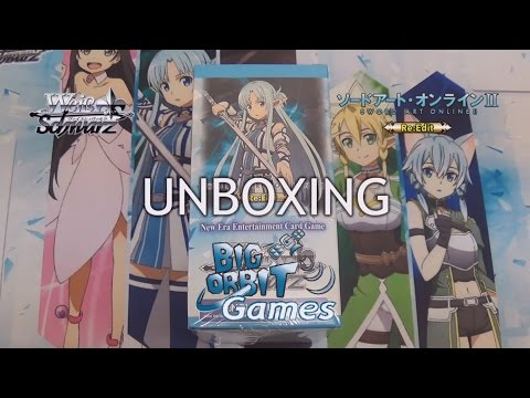 Weiss Schwarz Sword Art Online Re: Edit Booster Unboxing